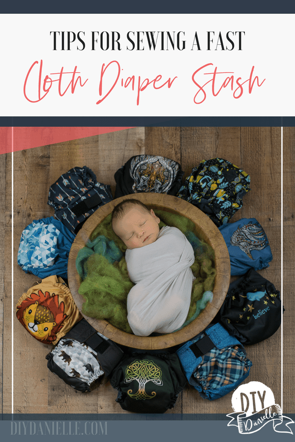 Tips for sewing a cloth diaper stash faster.