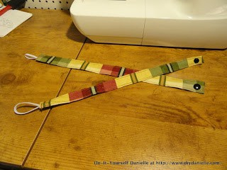 Straps used for toy tethers.