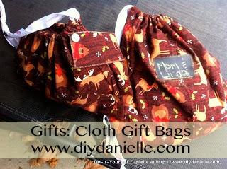 Christmas Gifts, Part IV {Cloth Gift Bags}