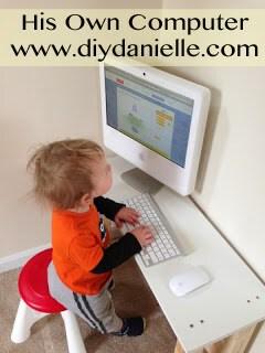 Giving a toddler a computer