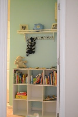 Nursery Entry: Coat Rack and Shelf