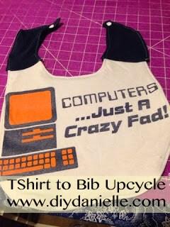 Upcycled Teeshirt to Bib