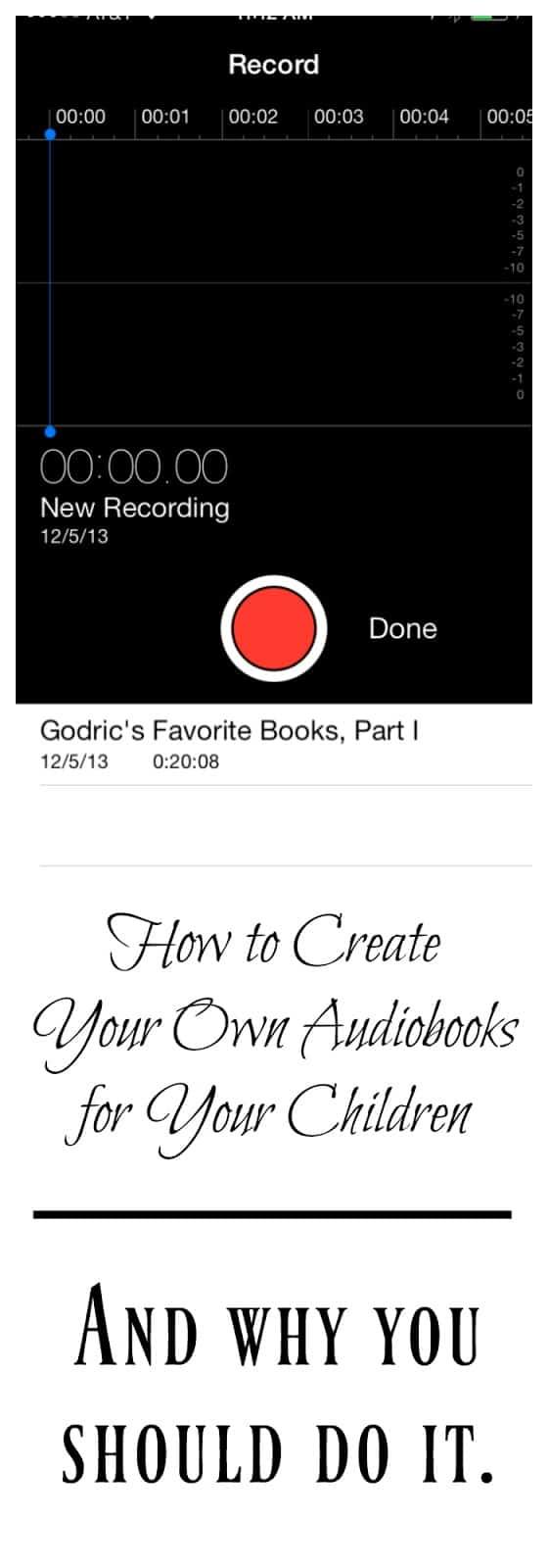 audiobooks diy