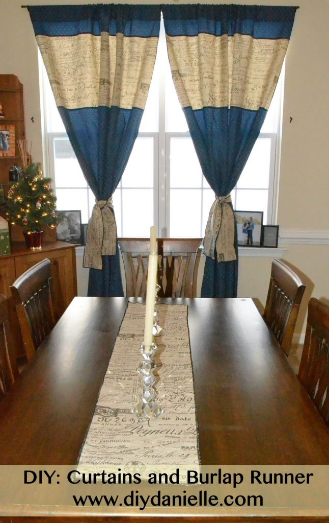How I made my own curtains and burlap table runner