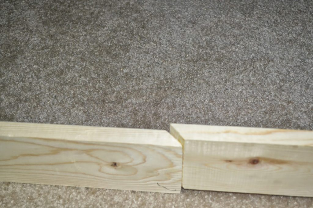 connecting two boards with slanted edge