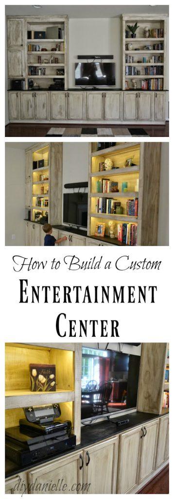DIY Entertainment Center and Bookshelves