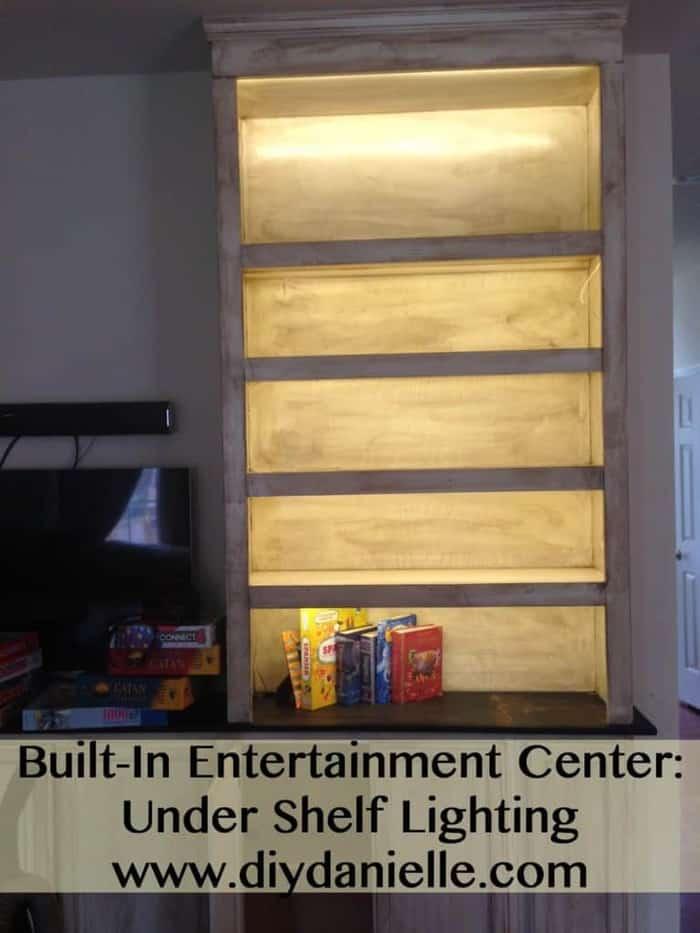 How we installed LED tape lighting under our bookshelves.