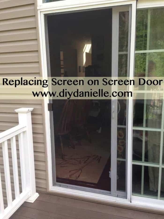 Easy Home DIY: Replacing Screen on Screen Door