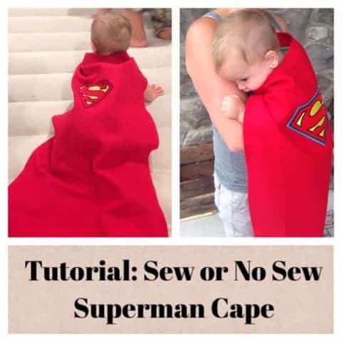 Superman Cape: To Sew or Not to Sew… that is the Question.