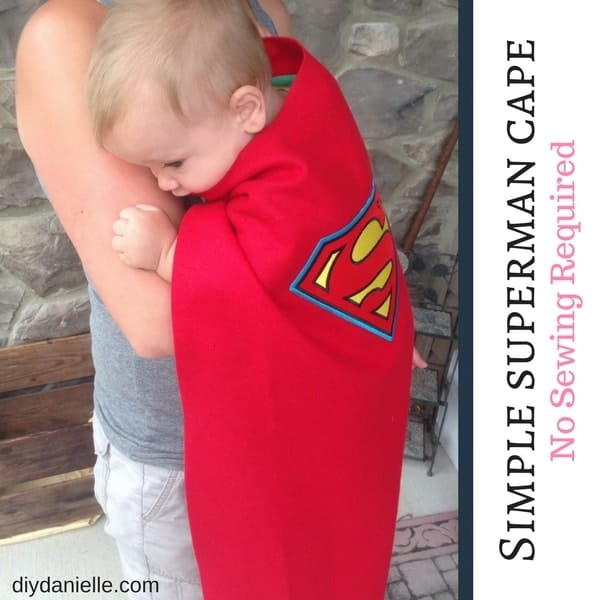 How to make a superhero cape without sewing. Super easy project for children!