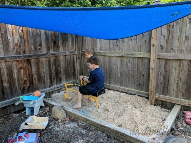 How to add shade to a sandbox.