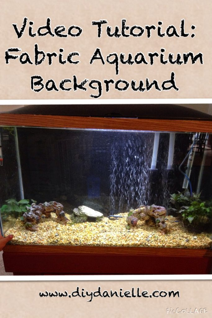 Video Tutorial For A Fabric Aquarium Background Sew Or No
