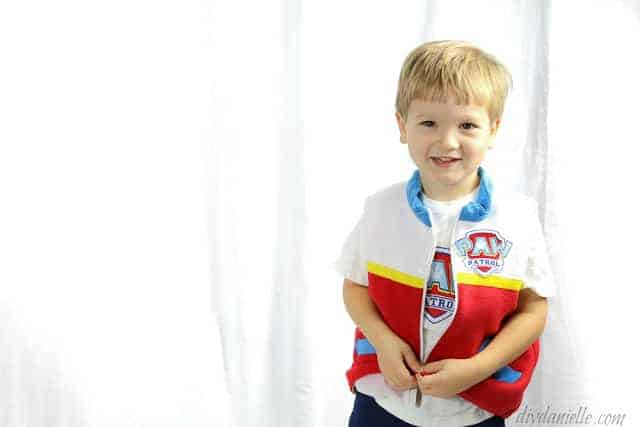 How to make a Paw Patrol Ryder costume from a simple vest pattern.