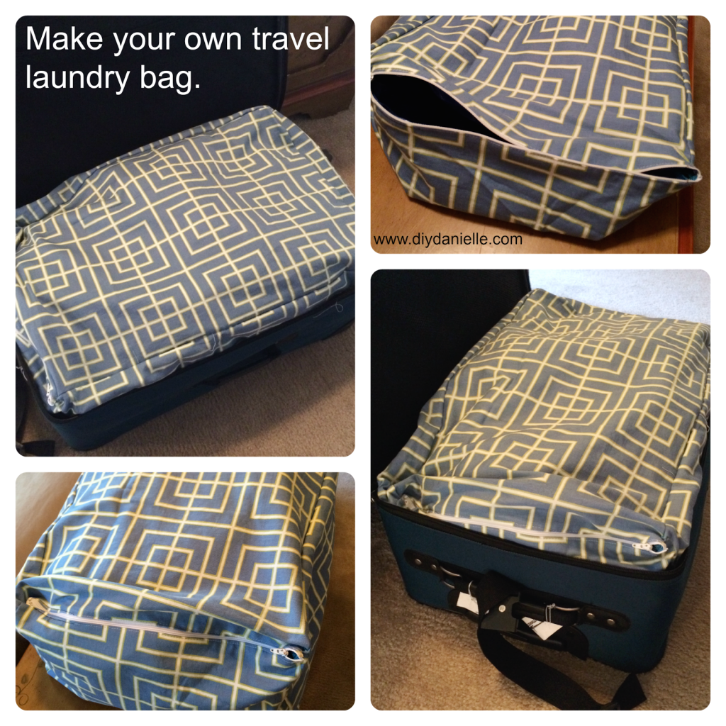 How to make a laundry bag custom fit for your suitcase.