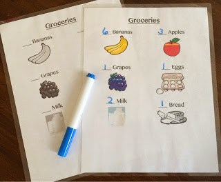Learning on the Go: Part II {Grocery List}