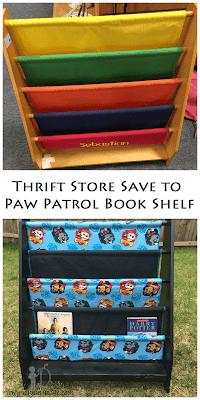 Paw Patrol Inspired Bookshelf Makeover