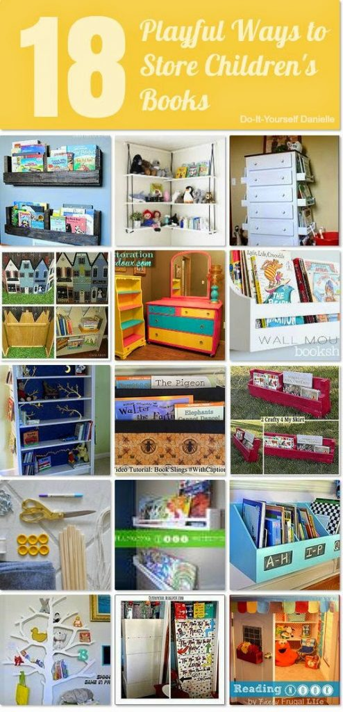 18 Playful Ways to Store Children's Books