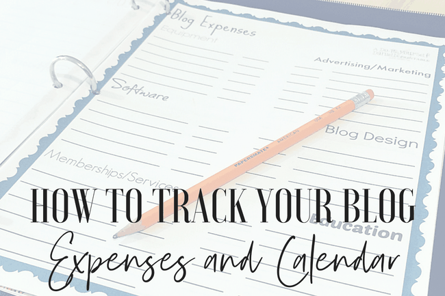 Get the free printable to track blog expenses and schedule.