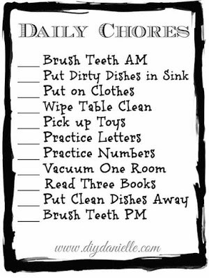Toddler Chore Checklist {Free Printable!}