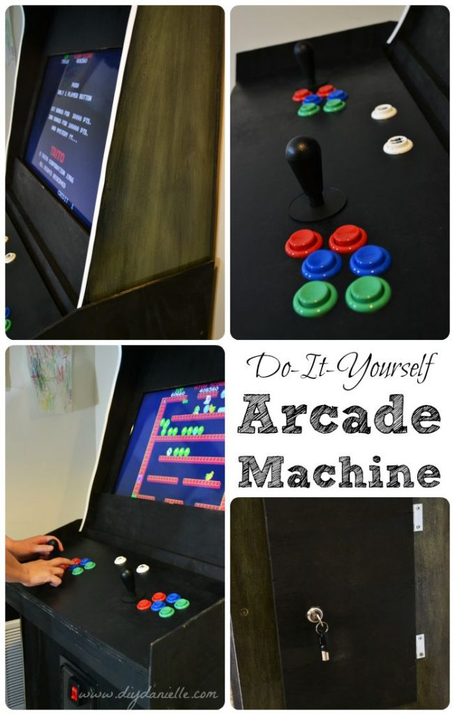 DIY Arcade Machine Cabinet: Photos of the different accessories added.