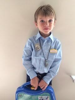 DIY Kid's Cop Costume