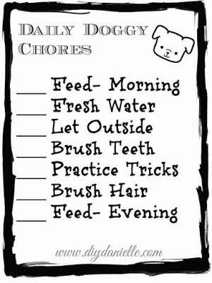 Dog Care Chore Checklist for Toddlers {Free Printable!}