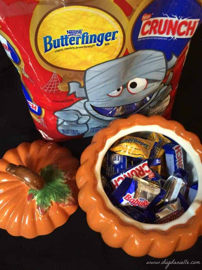 We keep some of our Halloween candy in the candy bowl around this time of year for a quick treat! #ad #Treats4All #CollectiveBias