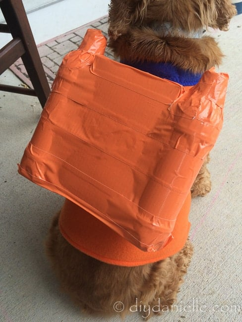 Zuma's scuba pack from Paw Patrol. Easy DIY project for a costume.