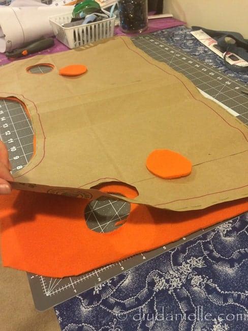 Orange fleece for Zuma vest.
