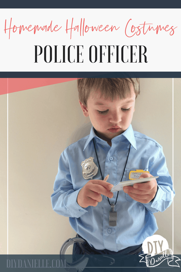 Learn how to make this easy police officer costume for Halloween. It's easy!