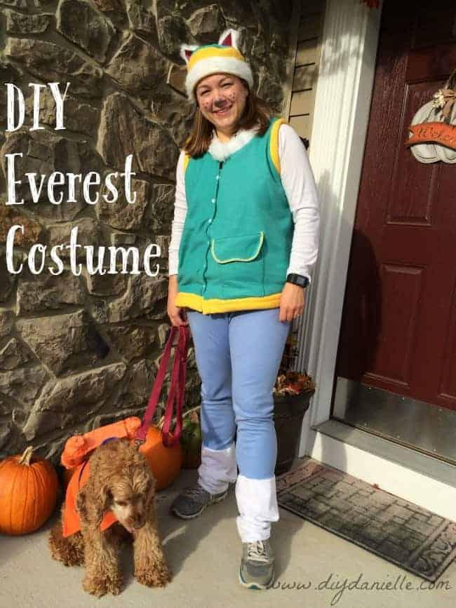 DIY Everest Halloween Costume {from Paw Patrol}