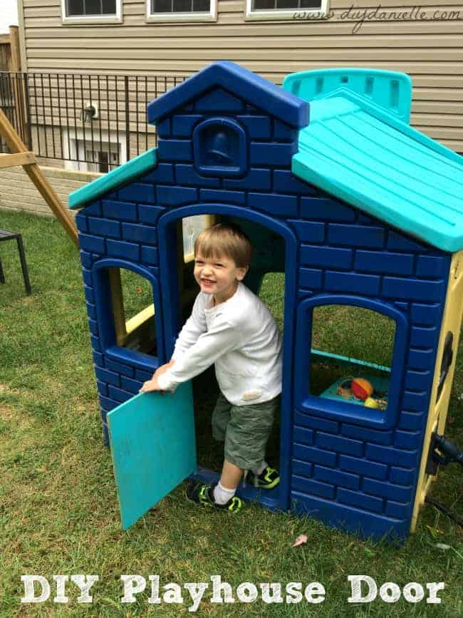 Tutorial on how to make a replacement door for a Little Tikes playhouse.