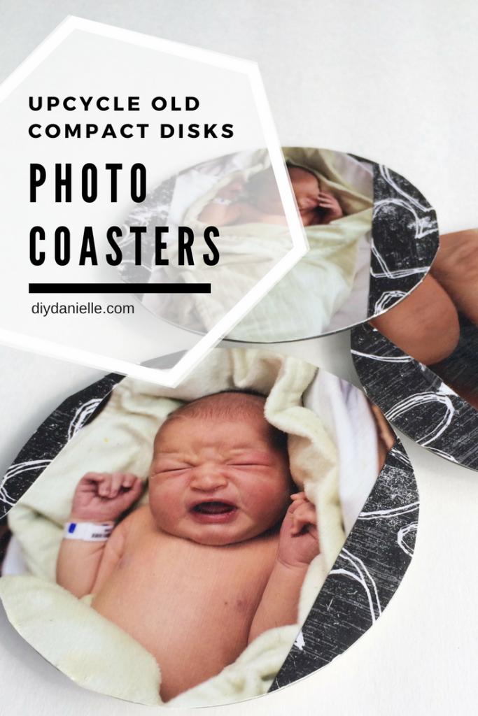 DIY Photo Coasters Using Upcycled CDs