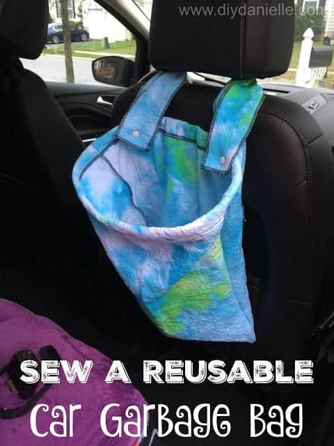 diy reusable car garbage bag
