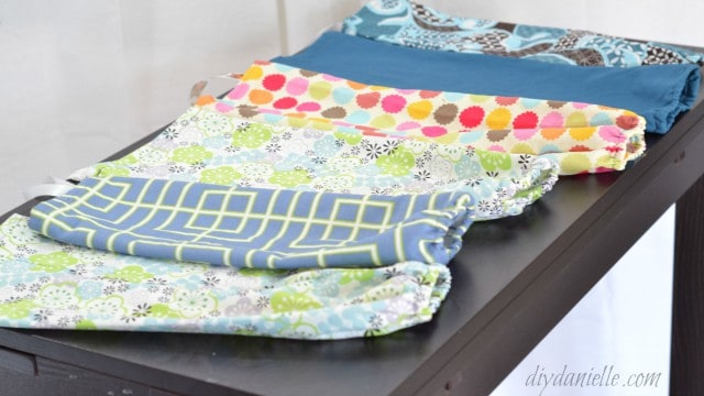 Grocery bag holders are easy to sew gifts for family and friends.