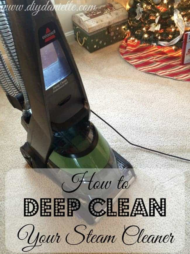 How to deep clean your pet steam cleaner.