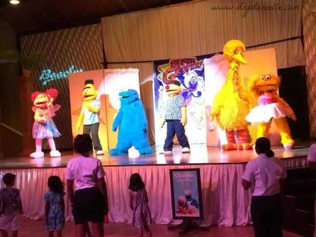 Sesame Street performance during a vacation with kids at Beaches Negril Resort