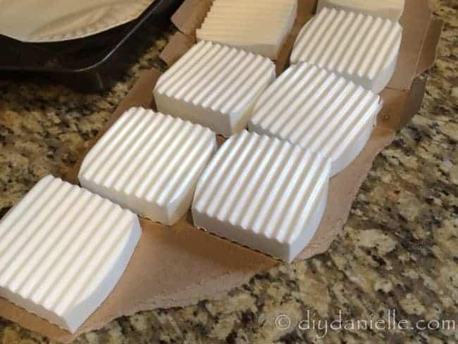 Handmade lavender soap.