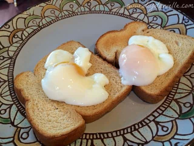 Poached eggs from the sous vide.