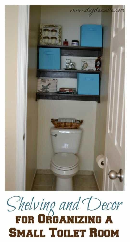 Shelving and Decor for Organizing a Tiny Bathroom