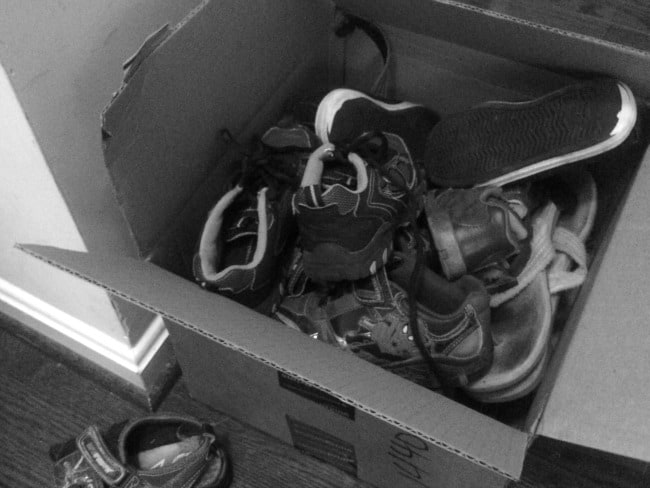 Some of the decluttered shoes.