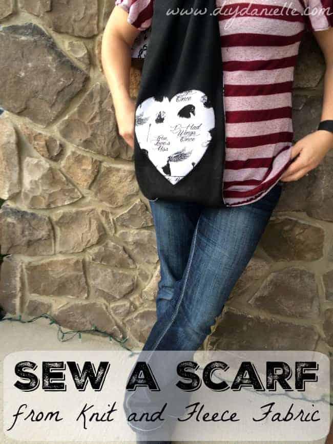 sew knit scarf