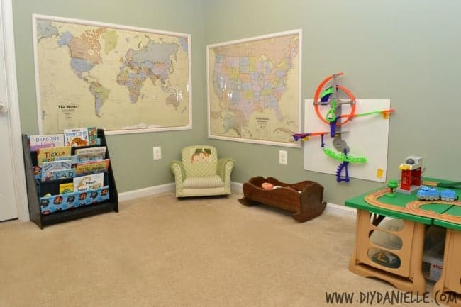 basement map decor