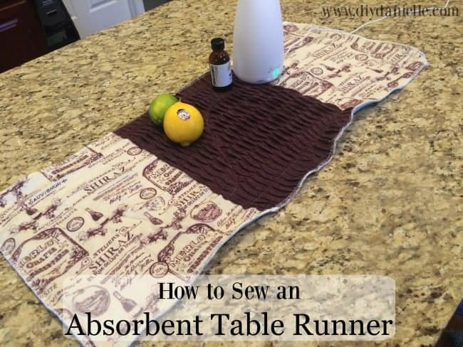 absorbent table runner