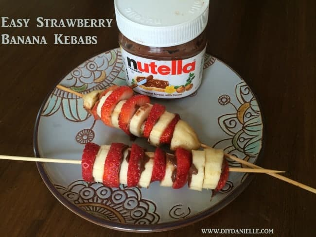strawberry banana kebab