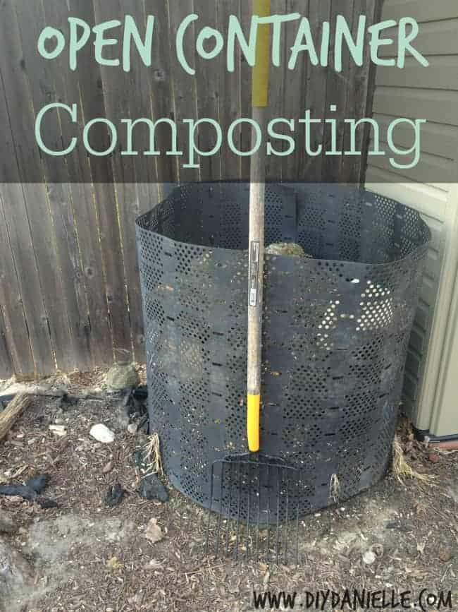 Open Container Composting {Part II of the DIY Danielle Earth Day Composting Series}