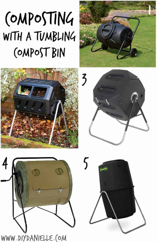 Composting with a Tumbling Compost Bin {Part III of the DIY Danielle Earth Day Compost Series}