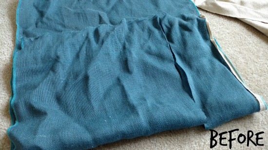 Cut fabric the size you want for your planter.