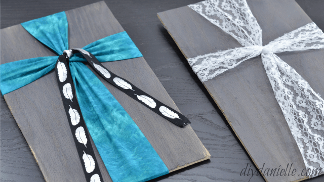 How To Make An Easy Fabric And Wood Cross