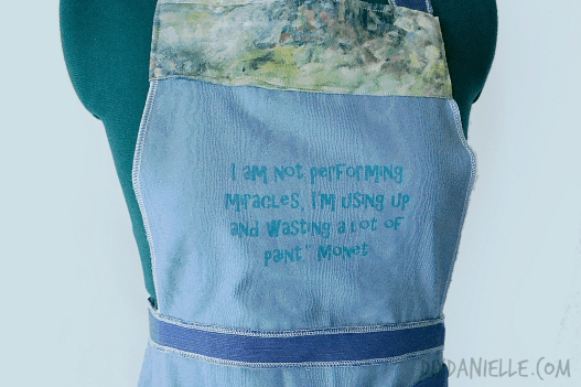 easy painting apron quote